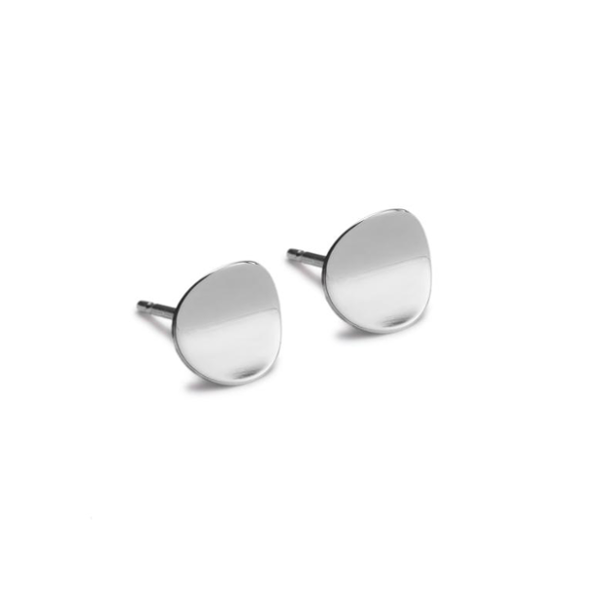 Atlantic Small Silver Stud Earrings. Unique designer jewellery handcrafted in Ireland.
