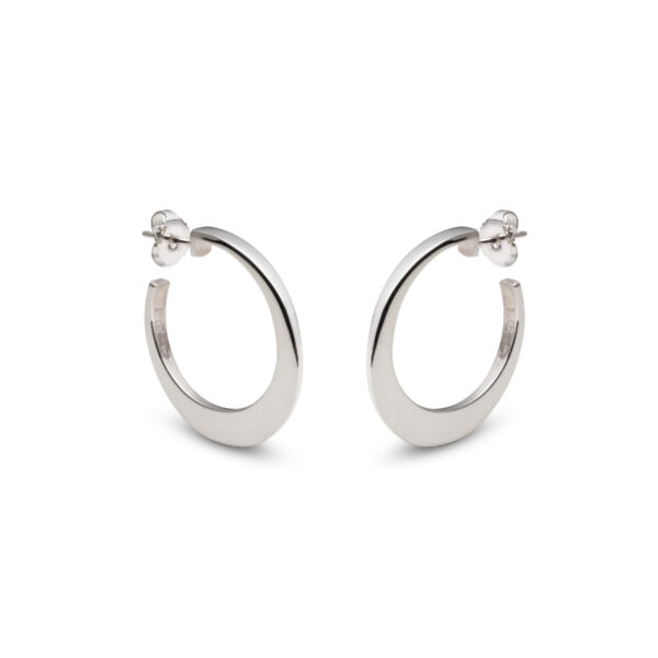 Circle of Dreams Small Silver Hoop Earrings
