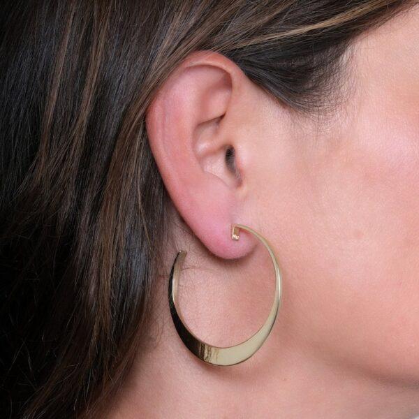 Circle of Dreams Large Silver Hoop Earrings