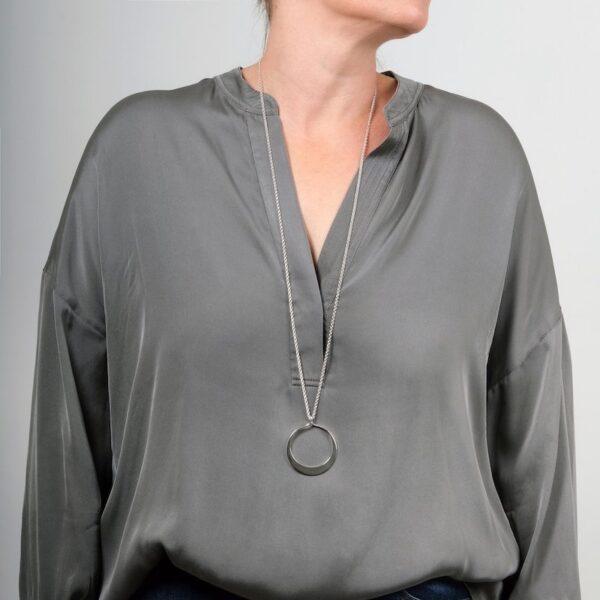 Circle of Dreams Large Silver Pendant - Maureen Lynch