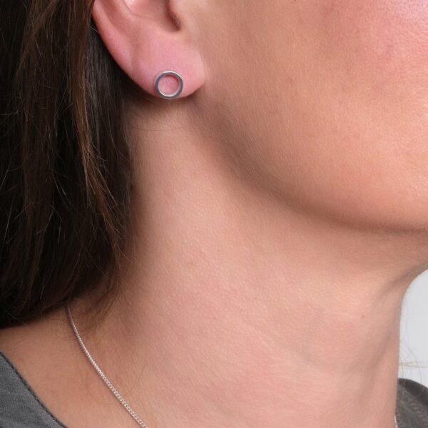 Circles Silver Stud Earrings - Maureen Lynch