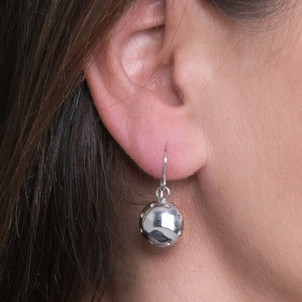 Daisy Days Silver Circular Drop Earrings - Maureen Lynch