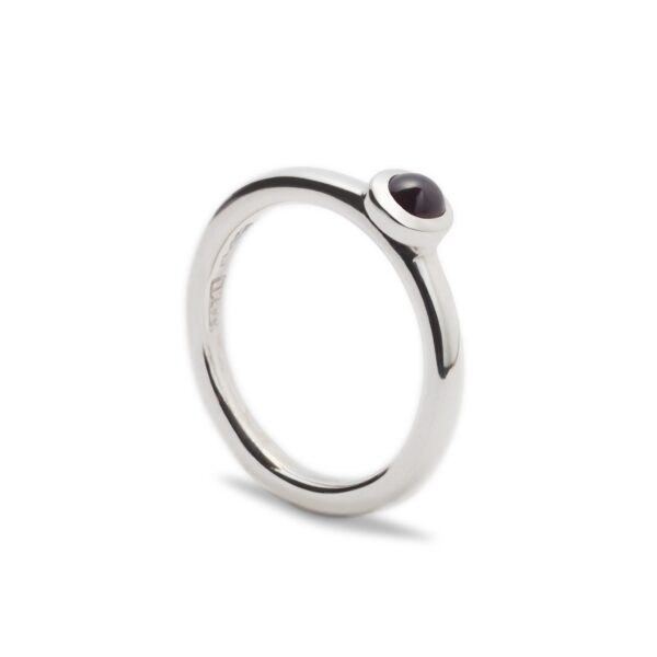 Silver Amethyst Ring. Unique designer jewellery handcrafted in Ireland.