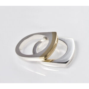 Silver Gold Trim Ring