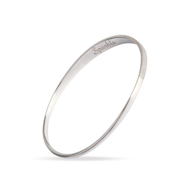 Sparkle Silver Bangle. Unique designer jewellery handcrafted in Ireland.