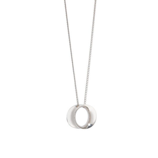 Wave Medium Silver Pendant